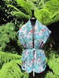1950's Glamour girl printed cotton towelling beach cover-up **SOLD** es